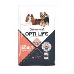 Croquettes pour petit chien au saumon Opti Life Adult Skin Care