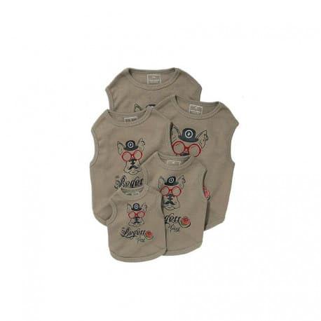 T Shirt pour chien Bogoss Taupe