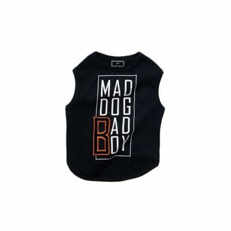 T Shirt pour chien Mad Dog Noir