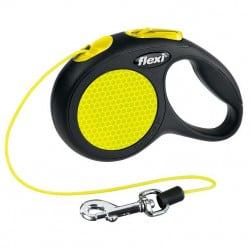 Flexi New néon, laisse corde pour chien
