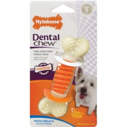 Os Nylabone dental action chew gout bacon pour chien S