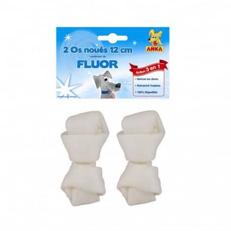 Os noué pour chien au fluor 12 cm x 2 pcs