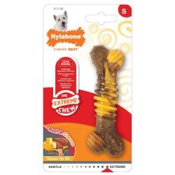 Jouet friandise pour chien Nylabone extreme chew texture bone steak et fromage