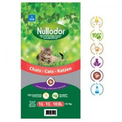 Litière Nullodor pour chat, sans odeur - 33L, 15Kg
