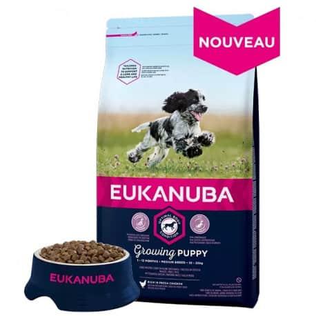 Croquettes pour chiot moyen Eukanuba