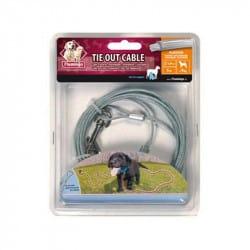 Câble d'attache en acier pour chien - 5m