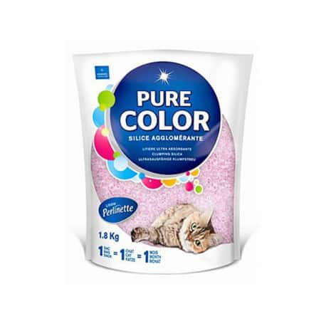 Litière Perlinette Pure Color 1.8 kg pour chat