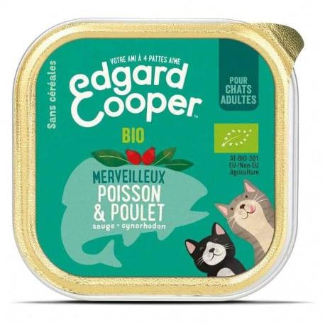 Barquette Bio pour chat Edgard Cooper