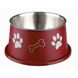 Ecuelle pour chien aux longues oreilles, acier inox 0.9l