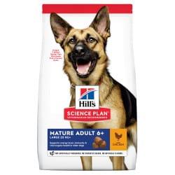 Croquettes pour grand chien mature au poulet Hill's 18kg