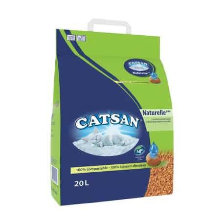 Litière pour chat Catsan vegetale plus 20 l