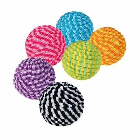 Jouet balle spirale pour chat, 4.5 cm