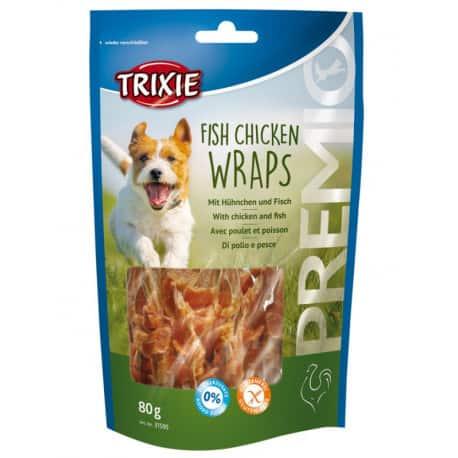 Friandise pour chien Premio Fish Chicken Wraps 80gr