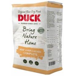 Alimentation surgelée pour chien DUCK Boeuf Foie Poulet Complet