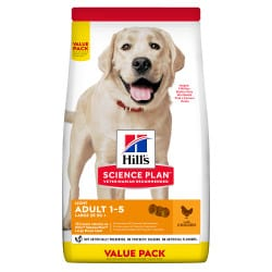 Croquettes grand chien Hill's Science-Plan Maxi Light, 12Kg