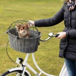 Panier avant pour vélo petit chien