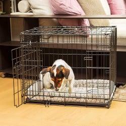Cage de transport pour chien et chat en métal noir Dog Inn