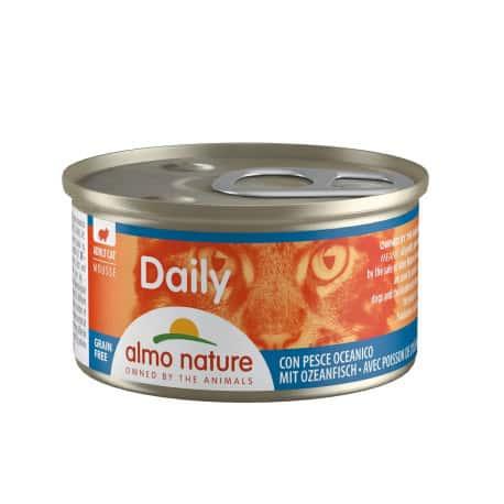 Pâté au poisson de l'océan pour chat Daily Bouchées 85 grs