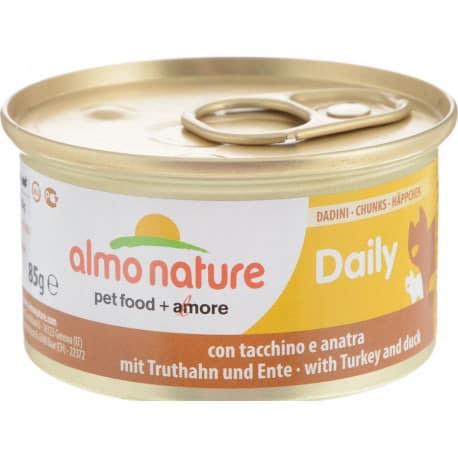 Pâté à la dinde et canard pour chat Daily Bouchées Almo Nature 85 grs