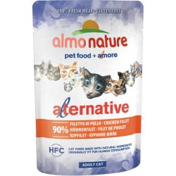 Almo Nature Alternative au blanc de poulet pour chat 55gr