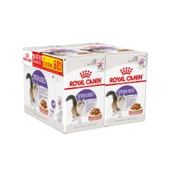 Royal Canin Sterilised 12X85G Lot de 2 boîtes dont une  à -60%