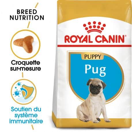 Croquettes pour chien Carlin Junior Royal Canin 1,5Kg