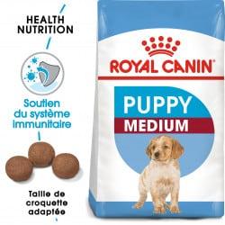 Croquettes pour jeune chien/chiot Royal Canin Medium Junior