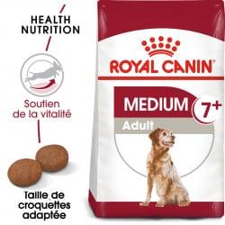 Croquettes pour chien moyen adulte Royal Canin 7+