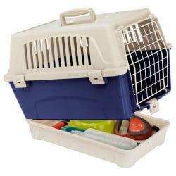 Caisse de transport avec bac de rangement pour chien et chat