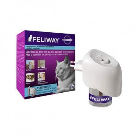 Feliway (diffuseur + recharge), phéromones anti-stress