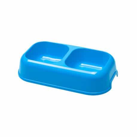 Gamelle double pour chien et chat, écuelle Ferplast Party - bleu