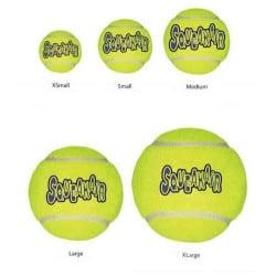 Jouet Kong balle tennis squeakair pour chien