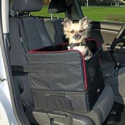 Siège auto pour petit chien et chat 45 x 38 x 37cm - Noir