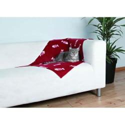 Couverture Beany pour chat 100 x 70cm - Rouge/blanc