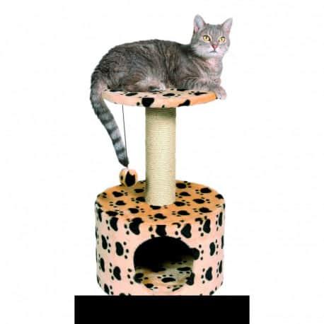 Arbre à chat Toledo, griffoir et cachette - Beige