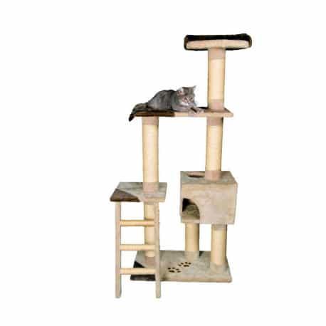 Arbre à chat Montoro, griffoir et cachette - Beige