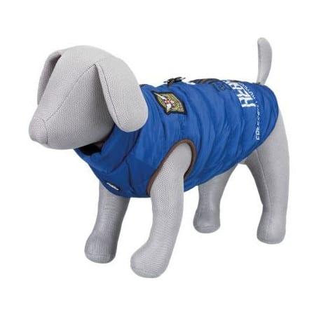 Manteau pour chien avec harnais Trixie Saint Malo bleu