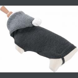 Pullover pour chien Zolux  à capuche Chine Gris