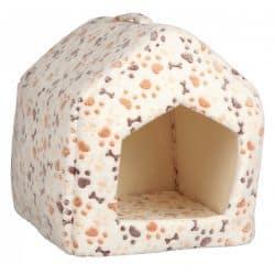 Niche - abri douillet pour chiens et chats Lingo beige et blanc