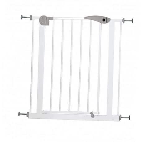 Barrière pour porte ou escalier en métal blanc
