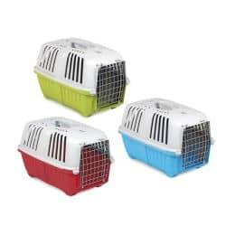 Caisse de transport pour chats et petits chiens avec grille en métal Pratiko