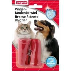 Brosse à Dents pour chiens et chats Doigtiers lot de 2 unités