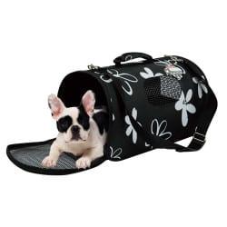 Paniers de tranport flowers Noir pour chien et et chat
