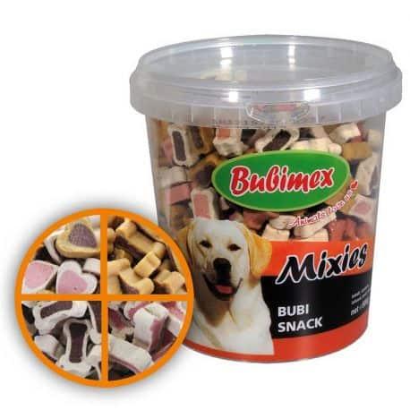 Récompense pour chien Snackies Agneau, Bœuf et Volaille seau de 500gr