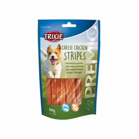 Friandise pour chien PREMIO Cheese Chicken Stripes au poulet et fromage 100gr