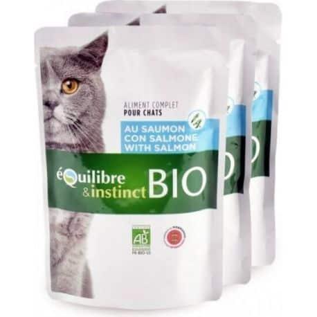Sachet de mitonnés pour chat BIO au saumon 100gr
