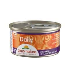 Boîte pour chat Almo daily mousse au lapin 85gr
