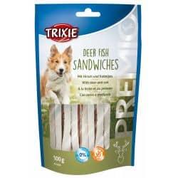Friandise pour chien PREMIO Deer Fish Sandwiches au Cerf et poisson 100gr