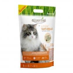 Litiere pour chat naturelle à base de Sojasenteur Peche (adapté pour les toilettes) 6L