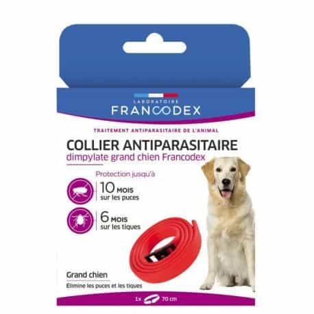Collier Antiparasitaire pour Grand chien coloris rouge